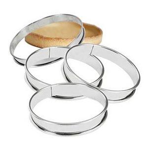 Cercle à tarte matériel de pâtisserie la boutique du fournil
